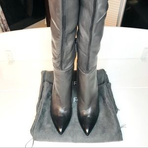 🛍TOM FORD over-the-knee leather boots